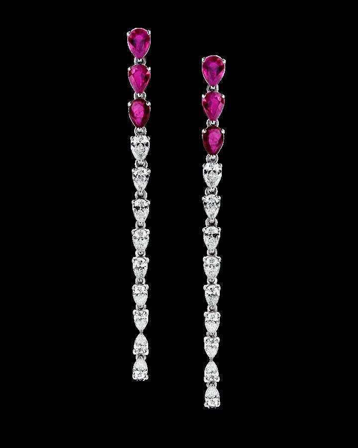 Серьги RALFDIAMONDS  с рубинами и бриллиантами