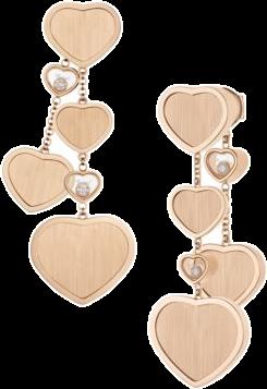 Серьги Chopard Happy Diamonds Happy Hearts James Bond 007 арт 83A707 5029