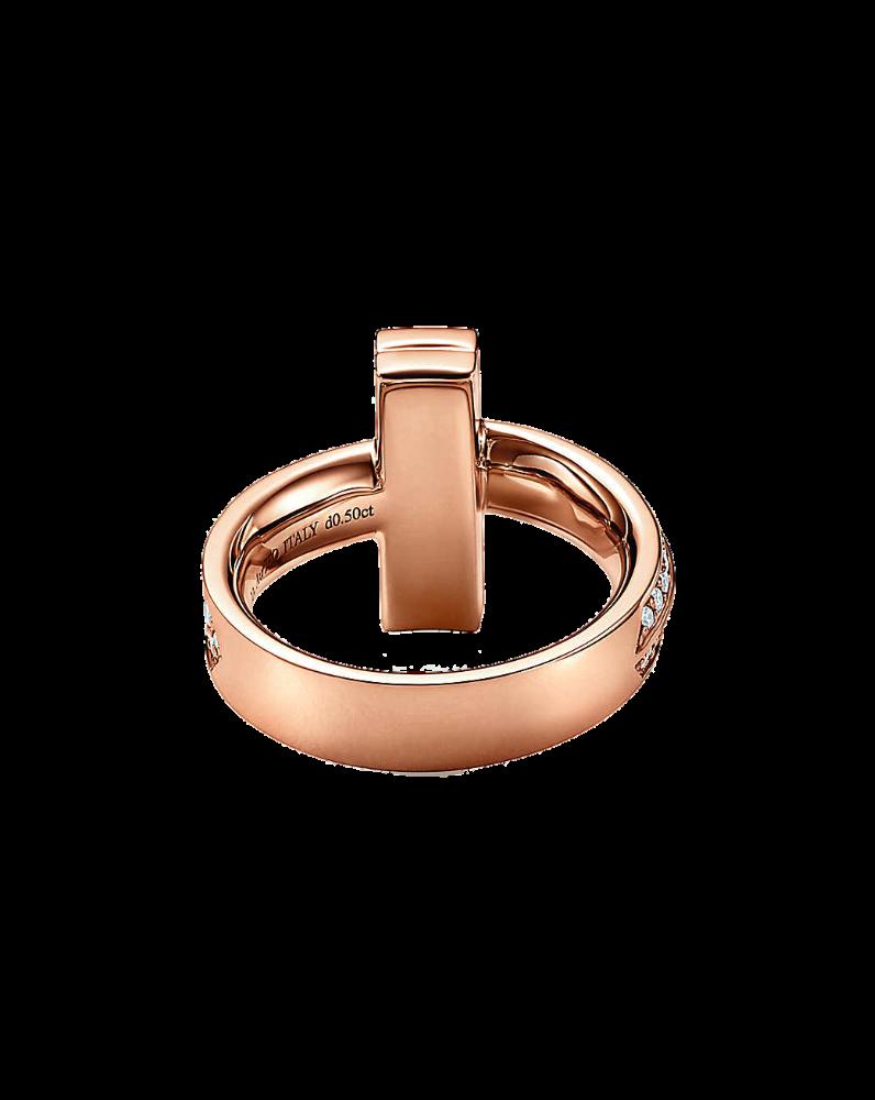 Кольцо Tiffany&Co. Tiffany T Широкое бриллиантовое T1.