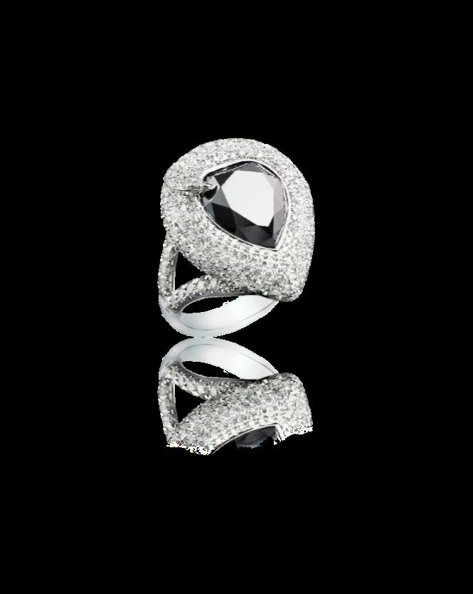 Комплект Yanush Gioielli  с ониксом и бриллиантами.