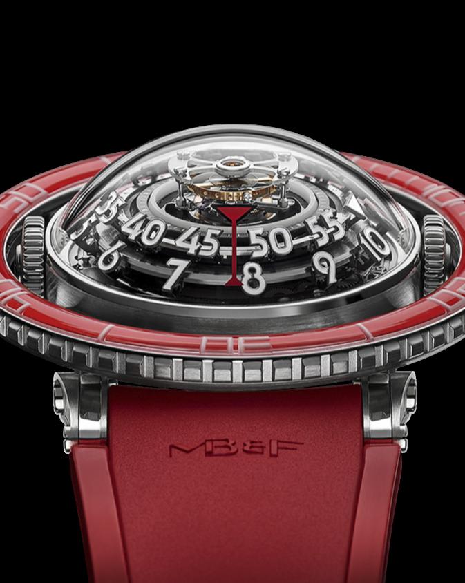 Часы MB&F Horological Machines N°7 Aquapod HM7 Platinum Red