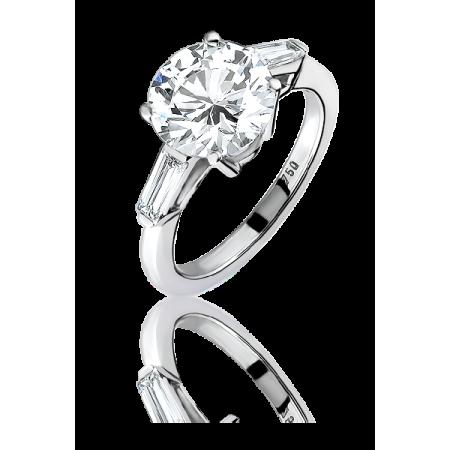 Кольцо с бриллиантом No name Кольцо с круглым бриллиантом 3 04 G VS1