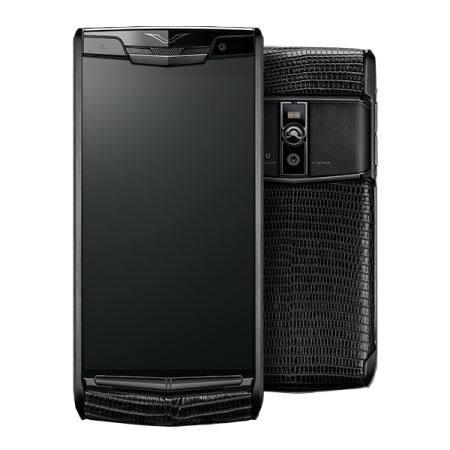 VERTU SIGNATURE TOUCH PURE JET LIZARD