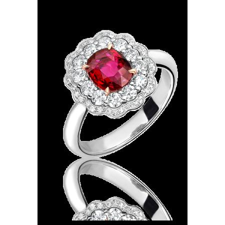 Кольцо No name с рубином 1 07ct и бриллиантами.