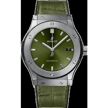 НОВИНКА HUBLOT CLASSIC FUSION TITANIUM GREEN 45 mm