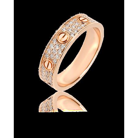 Кольцо с бриллиантом Cartier ОБРУЧАЛЬНОЕ КОЛЬЦО LOVE БРИЛЛИАНТОВОЕ ПАВЕ B4085800