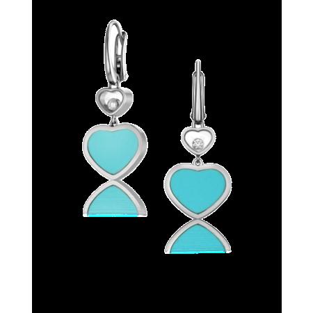 Серьги Chopard  Happy Diamonds Happy Hearts 837482 1410