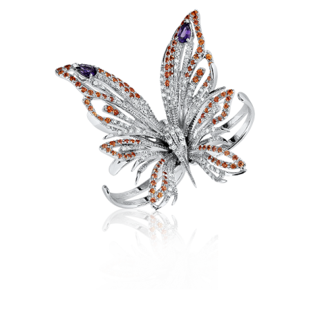 Damiani Butterfly Masterpiece Collection кольцо-брошь.