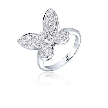 Кольцо Graff DIAMOND PAVE BUTTERFLY RING