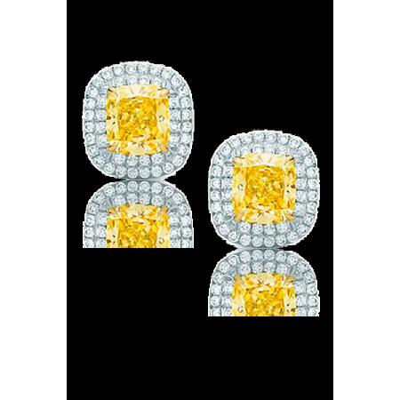 Серьги Tiffany&Co TIFFANY SOLESTE с желтым бриллиантом