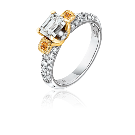 Кольцо с бриллиантом 1,05ct