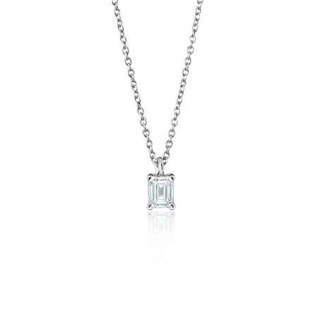 "Tiffany&Co подвеска с бриллиантом огранки ""Изумруд"""