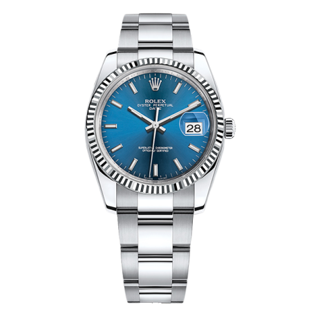 ROLEX PERPETUAL 34 MM, OYSTERSTEEL AND WHITE GOLD