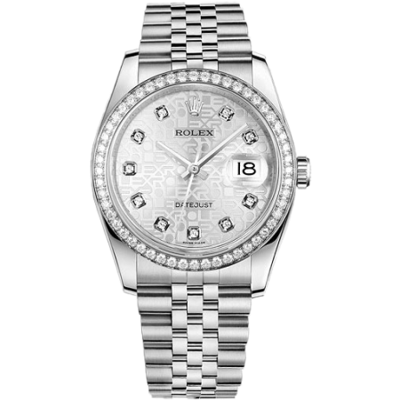 Часы Rolex DATEJUST 36 MM OYSTER STEEL WHITE GOLD AND DIAMONDS