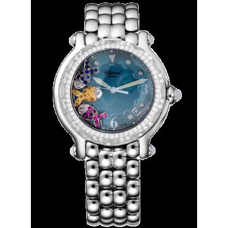 Часы Chopard Navy Gold & Steel Happy Sport Fish