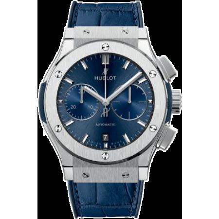 Часы Hublot CLASSIC FUSION BLUE CHRONOGRAPH TITANIUM