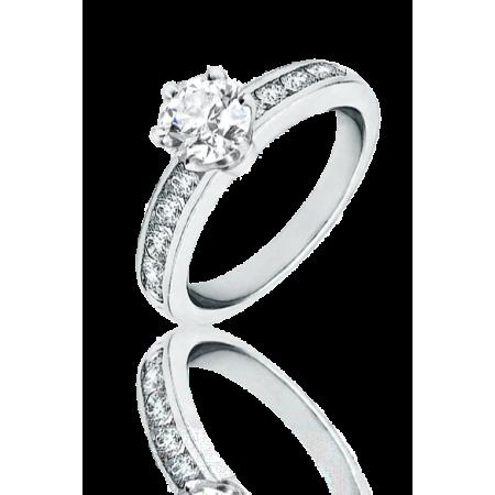 Кольцо Tiffany&Co. с бриллиантом 0 99ct.