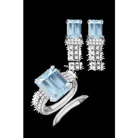 Комплект RALFDIAMONDS  с топазами и бриллиантами.