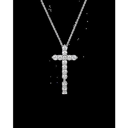 Крест с бриллиантами small 1.12 CT
