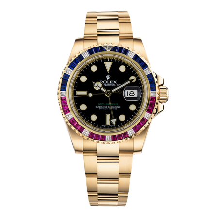 Часы Rolex GMT Master II 40mm Yellow Gold Jewellery 116748SARU