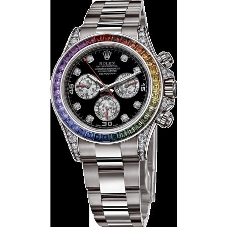 Часы Rolex  Daytona Cosmograph 40mm White Gold Rainbow Тюнинг
