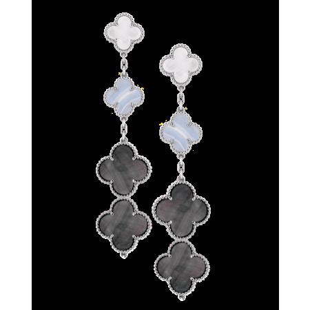 Серьги Van Cleef & Arpels Magic Alhambra 3 мотива VCARN18800