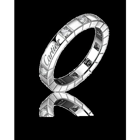 Кольцо Cartier Lanieres Diamond Band White Gold