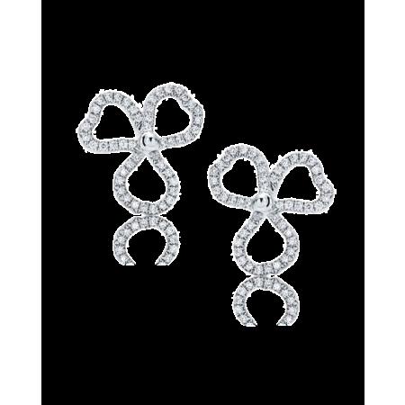 Серьги Tiffany&Co Tiffany Paper Flowers  в виде открытых соцветий с бриллиантами