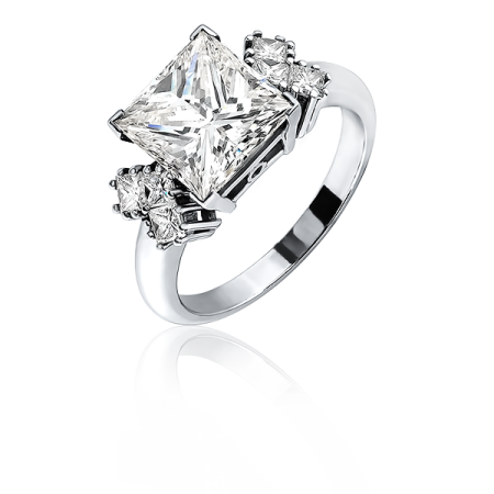 Кольцо с бриллиантом No name 4 00 CT К VS2