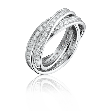 Cartier Trinity Diamond кольцо.