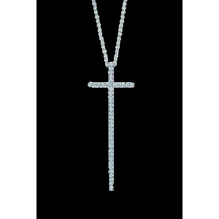 Tiffany & Co Крест с бриллиантами большая модель