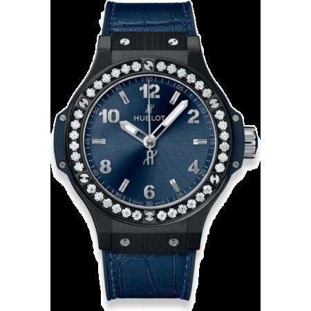Часы Hublot Big Bang Ceramic Blue Diamonds 38 mm