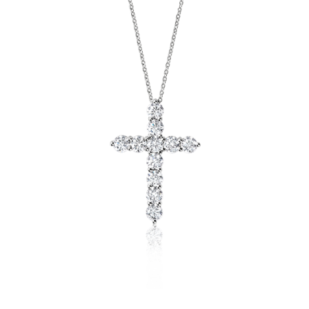 TIFFANY & CO Крест большой с бриллиантами