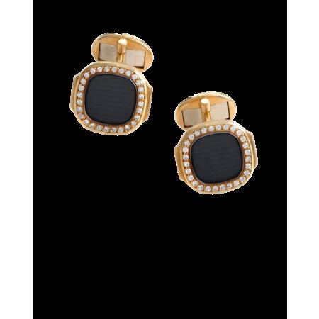 Запонки Patek Philippe Nautilus Diamond Gold