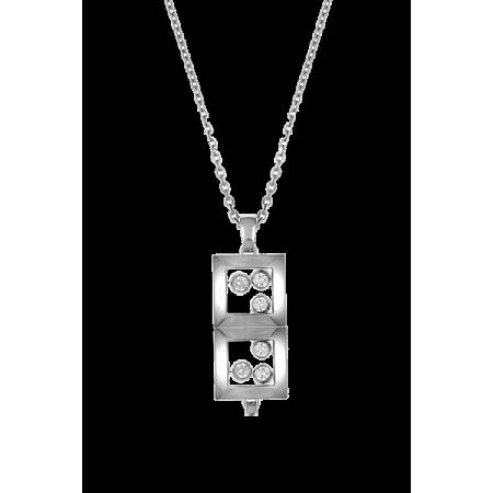Подвеска Chopard Happy Diamonds Happy Curves Square  - 799224-1001