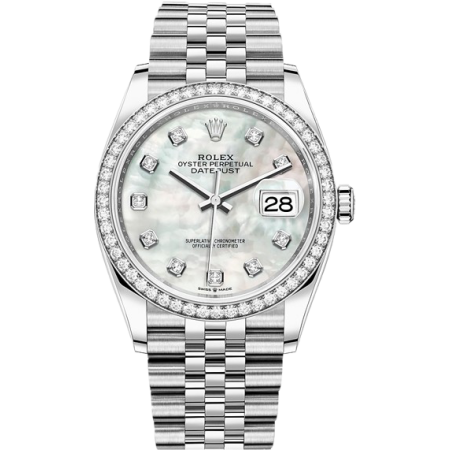 Часы Rolex Datejust 36mm Steel and White Gold тюнинг