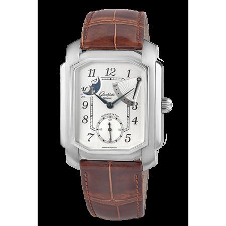 Часы Glashütte Original 1845 Karree Handaufzug Edelstahl Mondphase Gangreserve