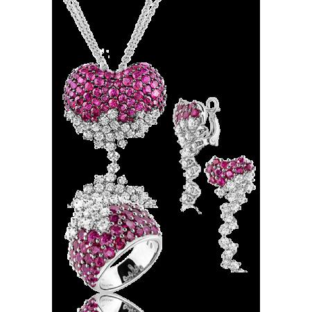 DAMIANI Sophia Loren Комплект с бриллиантами и рубинами