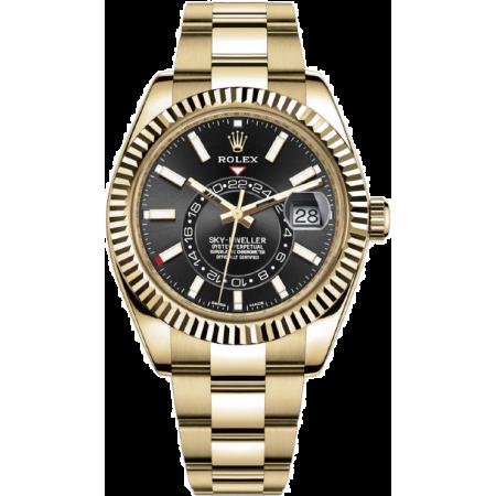 Часы Rolex 326938 BLACK Sky-Dweller Yellow gold
