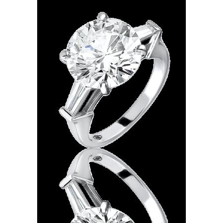 Кольцо с бриллиантом 5.20ct J/VS1