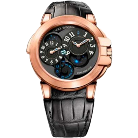 Часы Harry Winston Ocean Dual Time Rose Gold