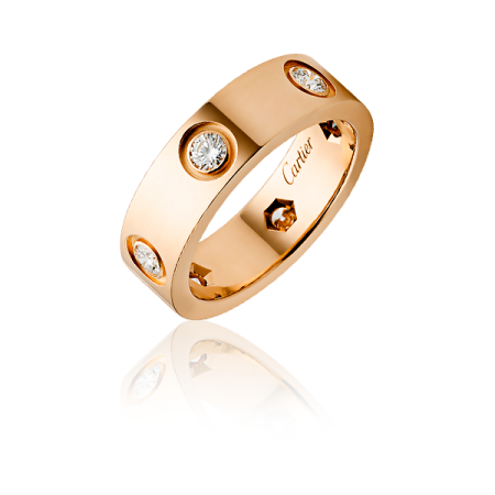 Кольцо Cartier Love с 6 бриллиантами B4097500