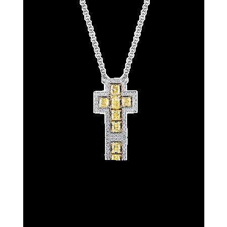 Подвеска RALFDIAMONDS крест с бриллиантами.