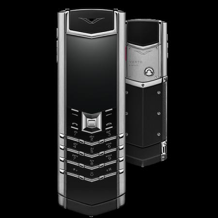 Телефон Vertu SIGNATURE S DESIGN STAINLESS STEEL BLACK LEATHER WITH RUBY