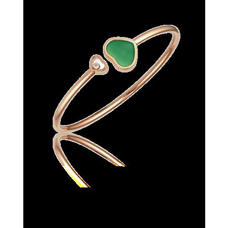 Браслет Chopard HAPPY HEARTS GREEN AGATE арт. 857482-5103