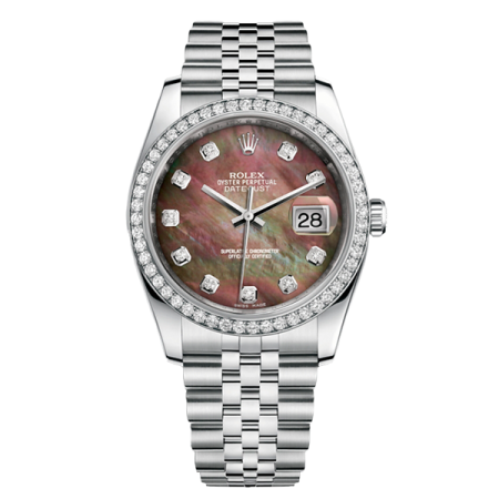 ROLEX DATEJUST 36 MM, STEEL, WHITE GOLD AND DIAMONDS