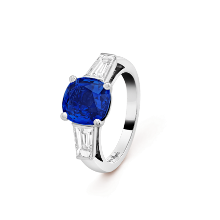 Кольцо Van Cleef & Arpels  Sonate центральный камень 3 63 карата Платина