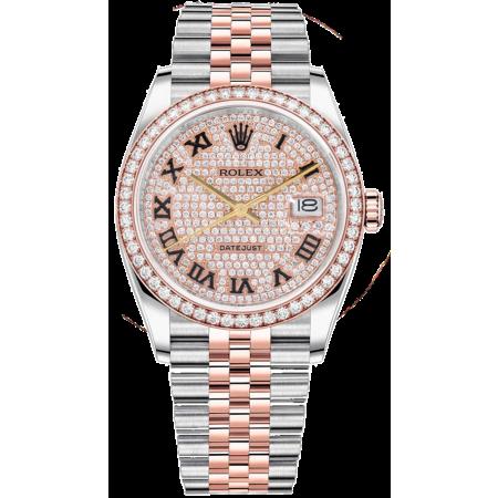 Часы Rolex DATE JUST STEEL AND EVEROSE GOLD ТЮНИНГ