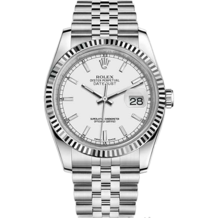 Rolex Datejust 36mm Steel and White Gold116234-0088