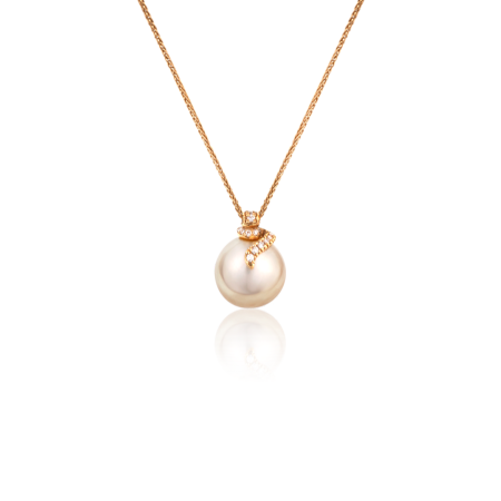 Подвеска Yvel Pearl and Diamonds Necklace N295BR1Y